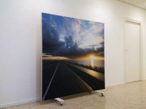 Verrijdebare wand met fotoprint