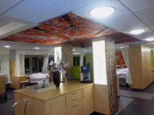Plafondpanelen beprint ziekenhuis
