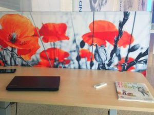 Deskdivider Bureauscherm akoestisch kantoortuinen kantooromgeving
