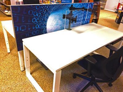 Akoestiek deskdivider kantoren kantoortuin
