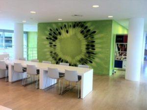 Fotowand kantine aula