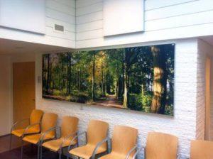 Ziekenhuis wachtkamer akoestiek verbetering