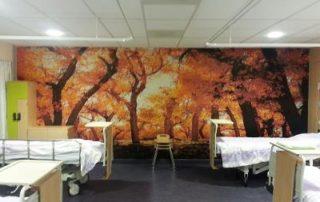 fotobehang naadloos ziekenhuis kamer