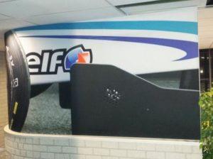 Race auto fotowand