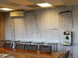 wandpaneel fotodoek textiel vergaderruimte