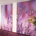 Akoestiek panelen met foto crematorium