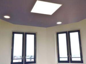 plafond akoestisch met led verlichting kantoor vergaderruimte