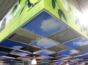 Systeemplafond wolken winkel