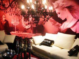 Verlichte fotowand woonwinkel