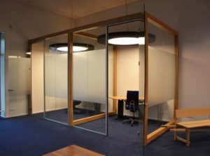 ronde akoestische LED lamp kantoor