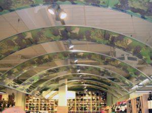 Spanplafond wijndruiven winkel