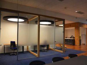 Geluidsabsorberende akoestische ronde LED lamp kantoor