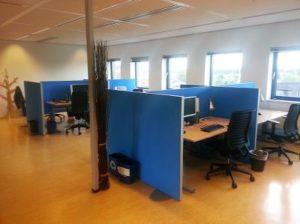 Werkplekafscheidingen kantoortuin