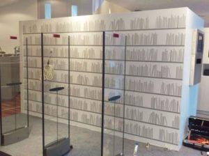 Naadloos fotobehang kantoor showroom