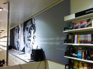 Fotowand boekwinkel