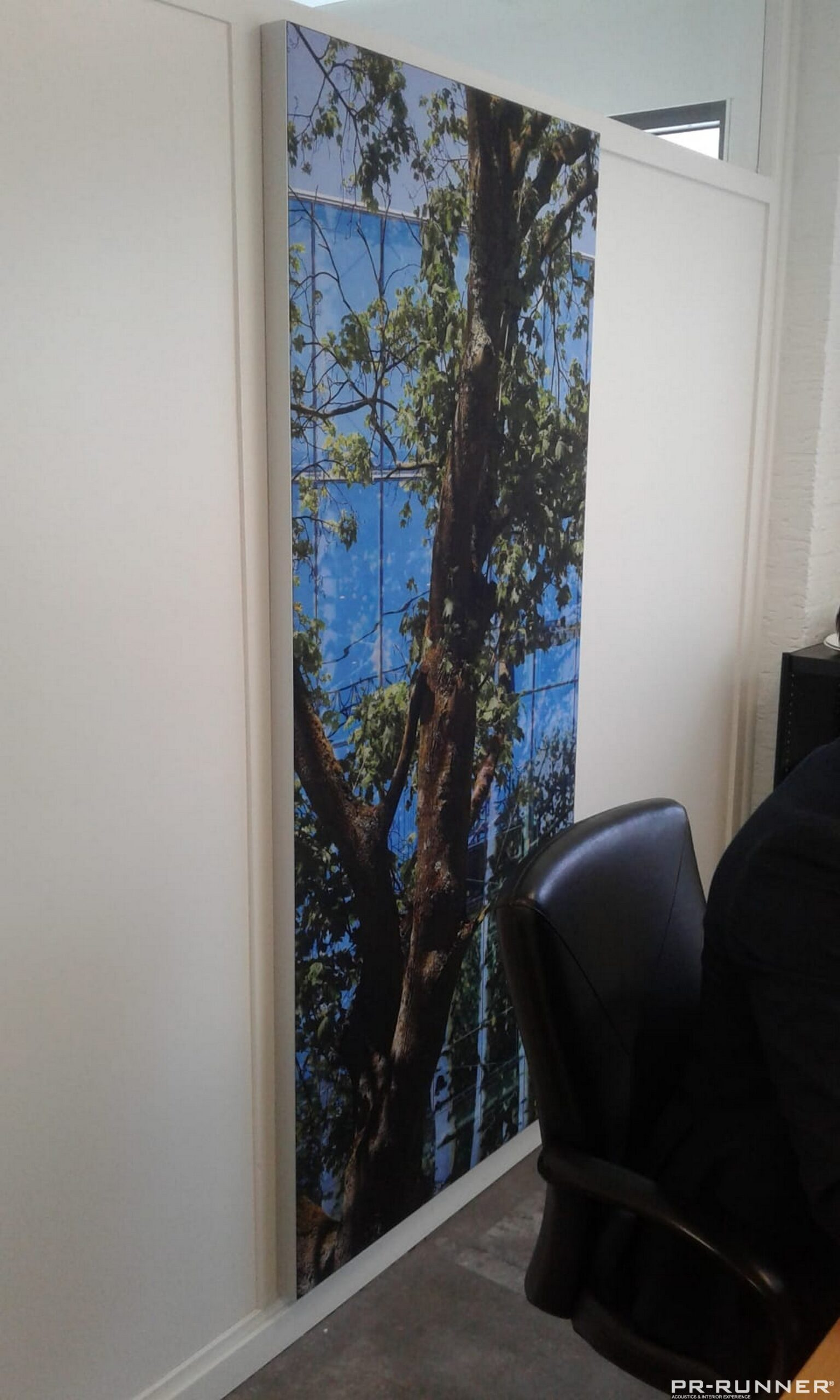 Fotopaneel akoestisch kantoorruimte PR-Runner