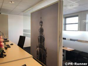 PR-Runner akoestisch wandpaneel receptie BDO Groningen