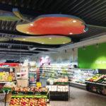 retail winkel vrije vorm plafondelement