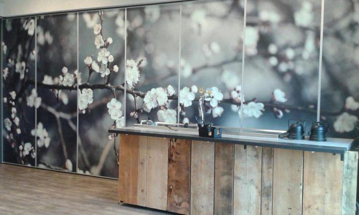 foto behang schuifwand interieurbeleving