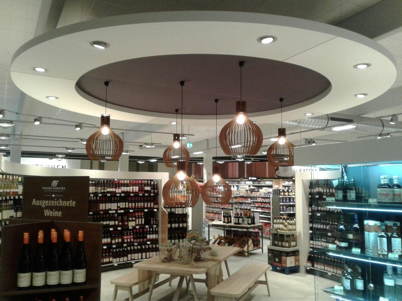 rond akoestisch plafondelement LED verlichting