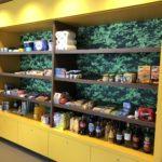 Kastenwand naadloos fotobehang Horeca supermarkt PR-Runner