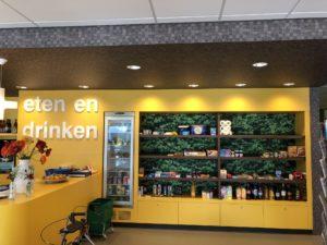 PR-Runner Klimop naadloos fotobehang en blokjes plafond Zorg Restaurant Horeca
