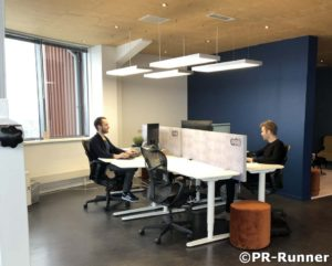 Bureauscherm kantoortuin Achterhoek Performance Center PR-Runner akoestisch
