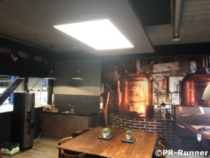 Interieurbeleving LED plafond PR-Runner Kantine