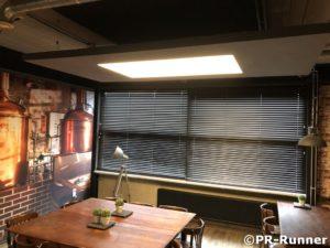 PR-Runner akoestiek en interieurbeleving LED verlichting betonlook