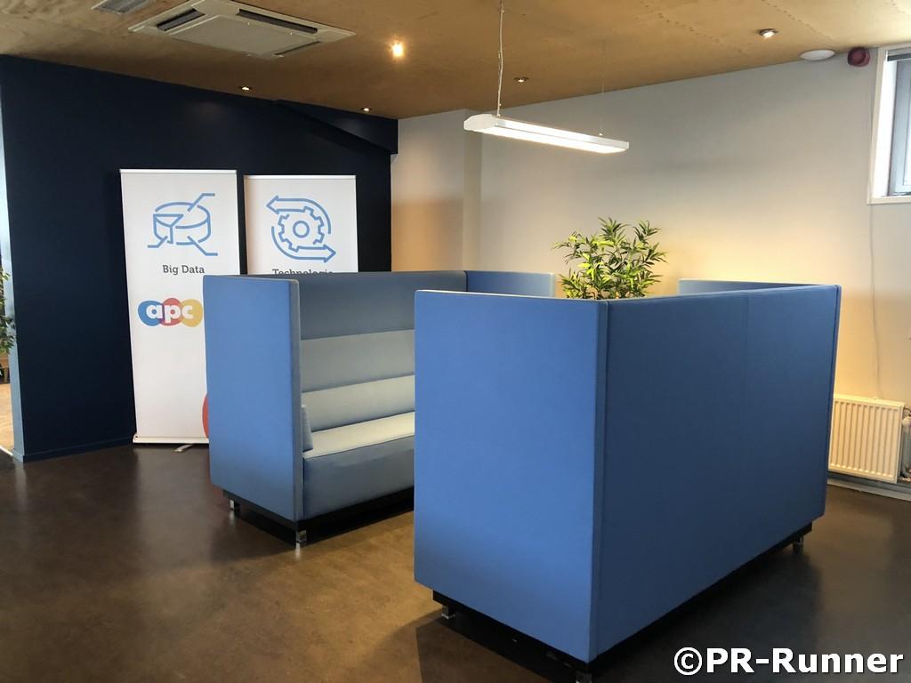 Treinstel geluiddempende bank PR-Runner opgesteld bij Achterhoek Performance Center