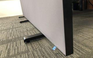 Zwart frame en stelvoet PR-Runner mobiele scheidingswand