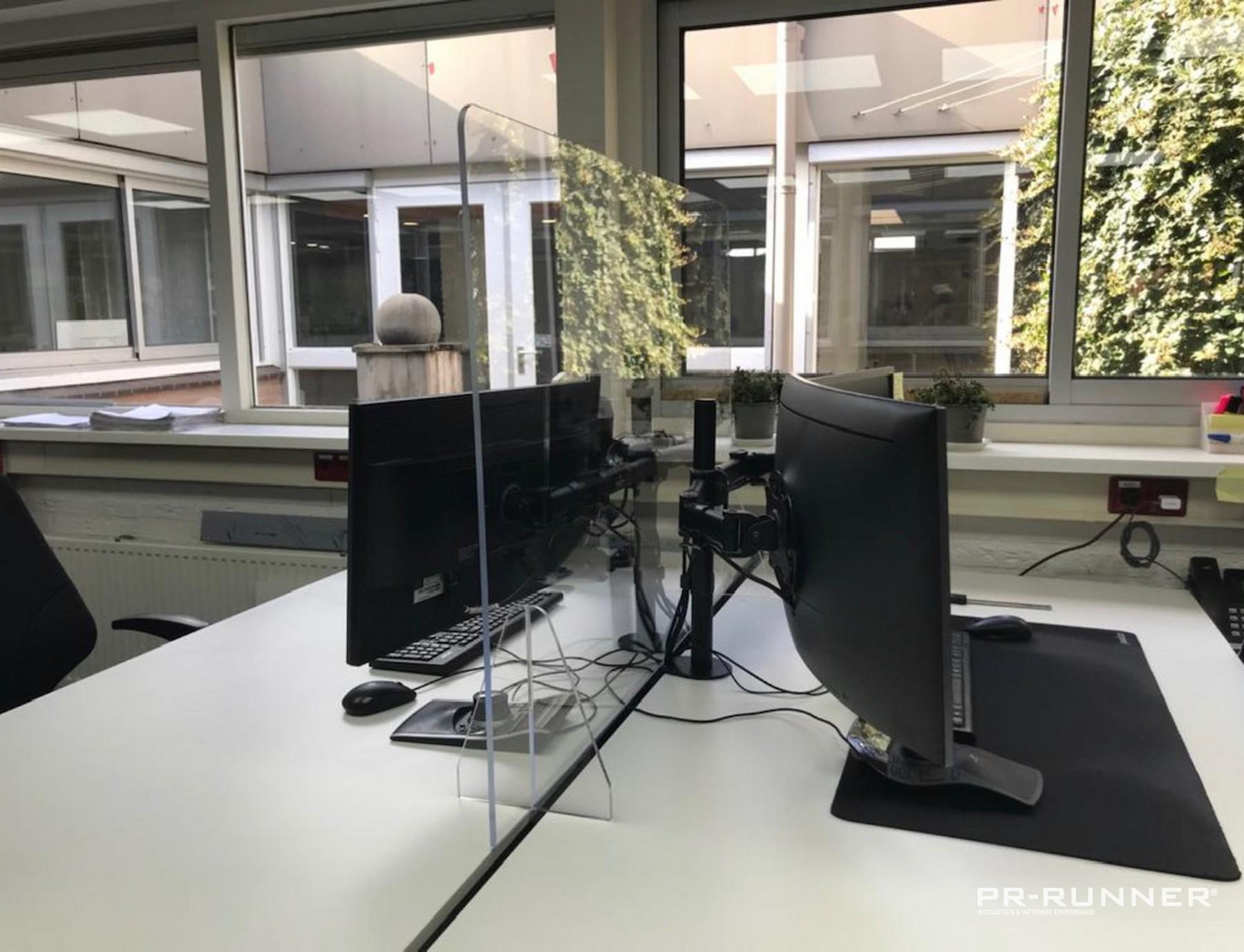 Flexibel en verplaatsbaar plexiglasscherm