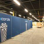 mobiele scheidingswanden in productiehal PR-Runner Bridon Bekaert Belgie