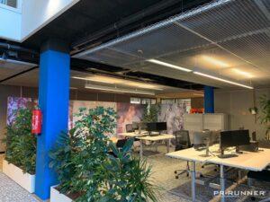 Afscheiding kantoor flexibel Gemeente Heerenveen akoestische wanden PR-Runner